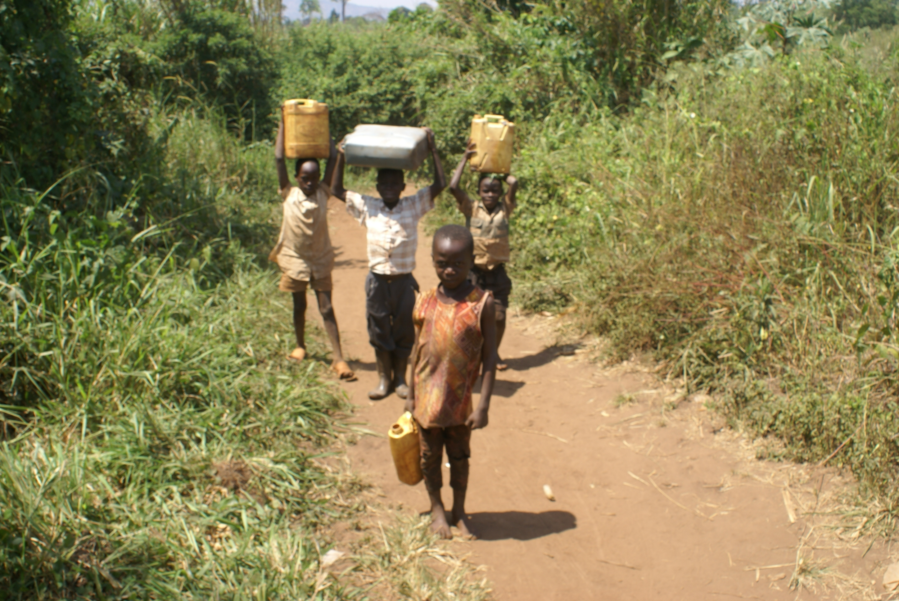 Poor African Children Water