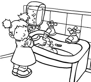 A-Sink-is-for-Hand-Washing-Coloring-Pages